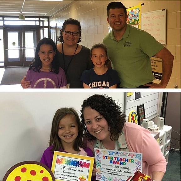 March Teacher Appreciation Winners!!! - Elaalia (above) - Ariana (below)