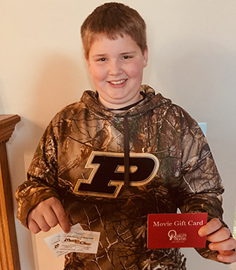 Meet Landon, our February 2018 Trivia Winner