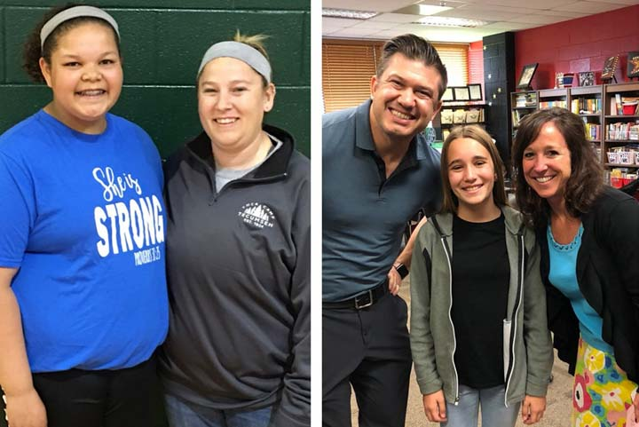 Congratulations to Lily, Ms. Hiscox, Avery, and Mrs. Deckard.