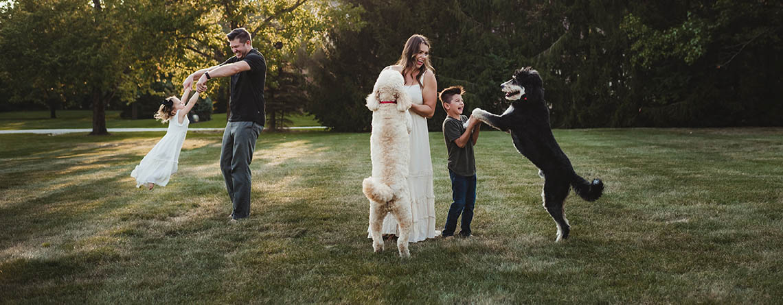 Family family with dogs